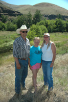 With help from the NRCS, the Hendricksons (from left Tom, Katie and Kim) have implemented key conservation practices along Asotin Creek.