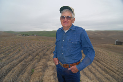 Now in his 80s, Ramon Walters has seen significant changes in agricultural production technology – from horses to tractors, from conventional tillage to direct seeding. Thanks in part to NRCS' Environmental Quality Incentives Program, Mr. Walters has been able bring soil and energy saving technology to the land he farms near Walla Walla.