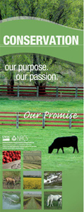 Image of Conservation: Our Passion, Our Purpose, Our Promise floor banner.