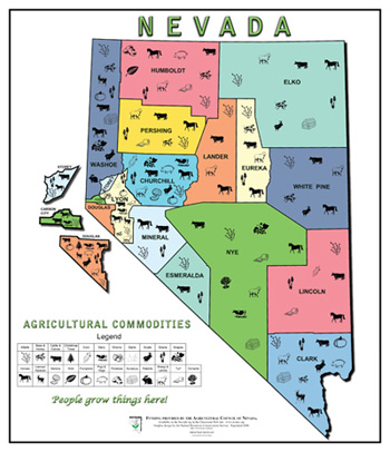 NV Agricultural Commodities Map