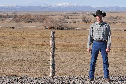 Owyhee County rancher, Chris Black, at their home ranch in Owyhee County, Idaho.  Chris is working with the SGI to remove junipers on his rangelands for sage grouse and livestock.  Photo credit: Joshua White
