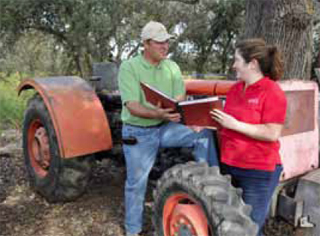 NRCS and the local RCD used EQIP to help Kevin Chiesa retire his old tractor (pictured here).