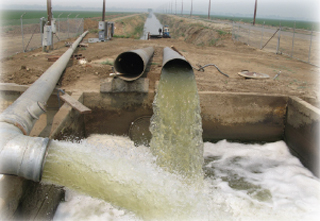 A tailwater recirculation system in Stanislaus County.