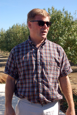Almond and walnut grower Paul Barger