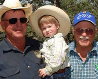 Rick Hall, left, grandson Bryce, and Don Hall think NRCS has been an invaluable partner.