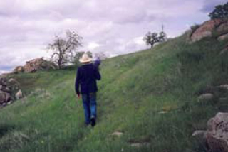 James Hallowell strolls across the ranch.