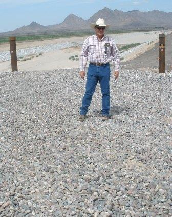 Farmer in Cotton Center, Arizona works with NRCS on Air Quality.
