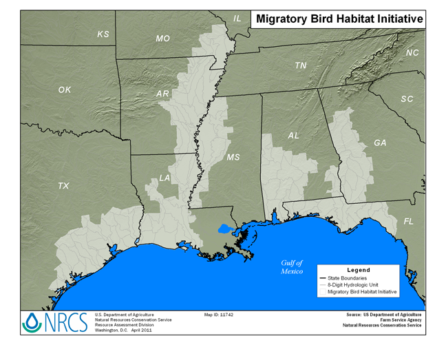 Migratory Birds Initiative Map - Small