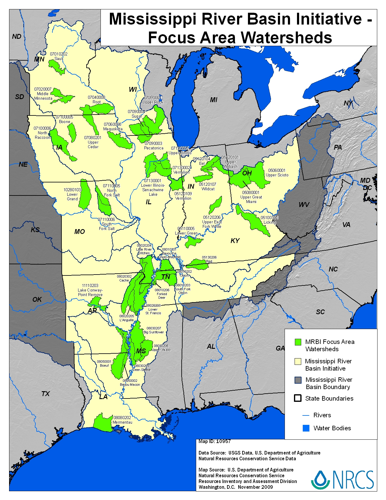 Mississippi River Basin Healthy Watersheds Initiative Maps And - Maps mississippi