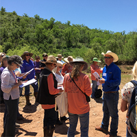 A portion of the workshop was dedicated to riparian area management with John Sackett presenting.