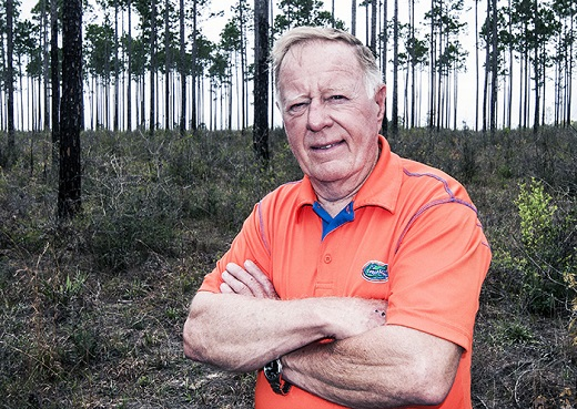 Bill Barnhill has worked to ensure loblolly and slash pine forests provide good habitat for quail.