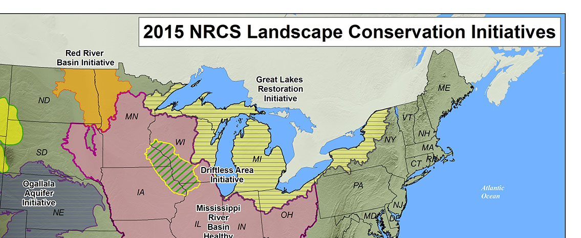 Partial landscape initiatives map