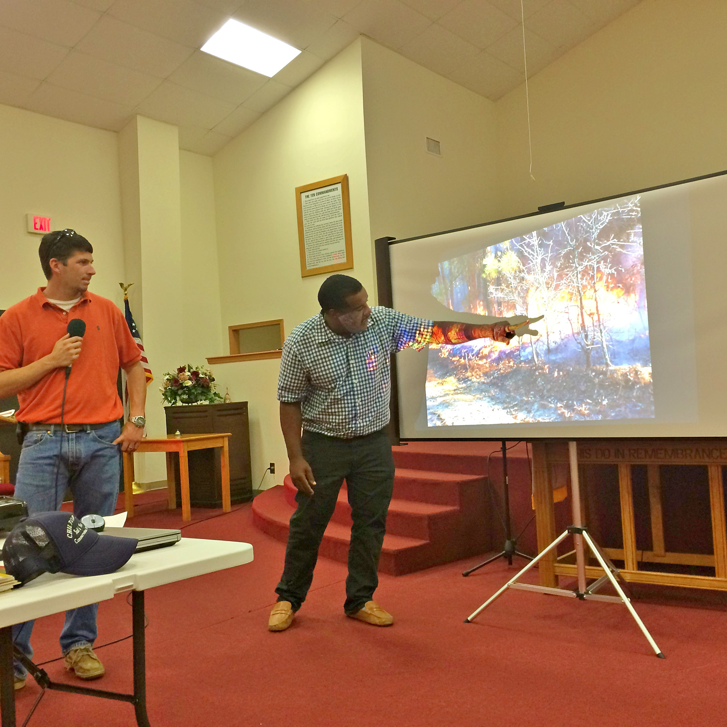 NRCS employees present during outreach meeting.