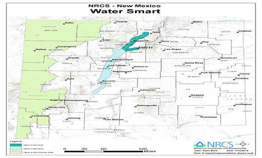 Map of NRCS New Mexico Water Smart Map