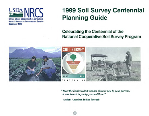 Cover of the 1999 Soils Planner.