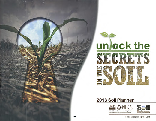 Cover of the 2013 Soils Planner.
