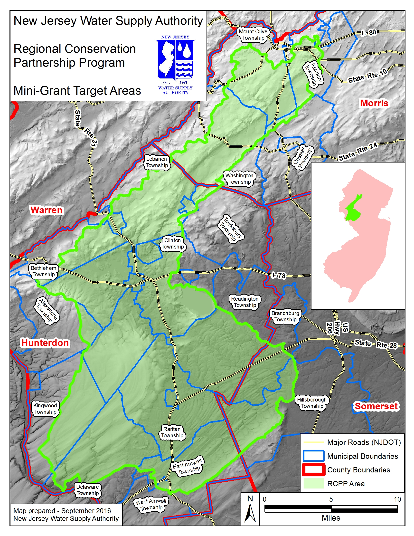 Raritan Basin Partners for Source Water Protection is focused on the area shown on this map.
