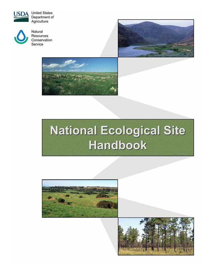 Cover of the National Ecological Site Handbook.