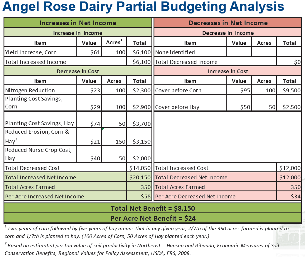 Angel Rose Dairy - Partial budgeting analysis