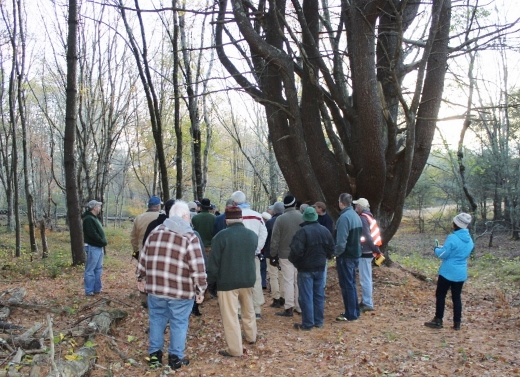 Attendees listen to benefits of forest management plan