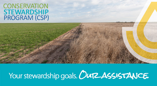 Conservation Stewardship Program. Your stewardship goals. Our assistance.