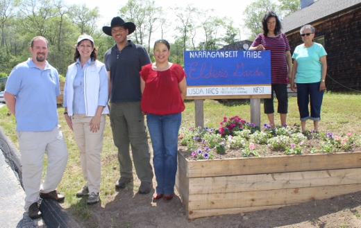 Regional Conservationist Gayle Barry Celebrates the Completion of the Narragansett Indian Community Garden