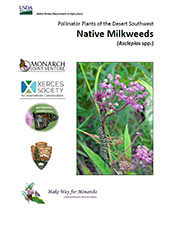 Cover image of the Pollinator Plants for the Desert Southwest, Native Milkweeds publication