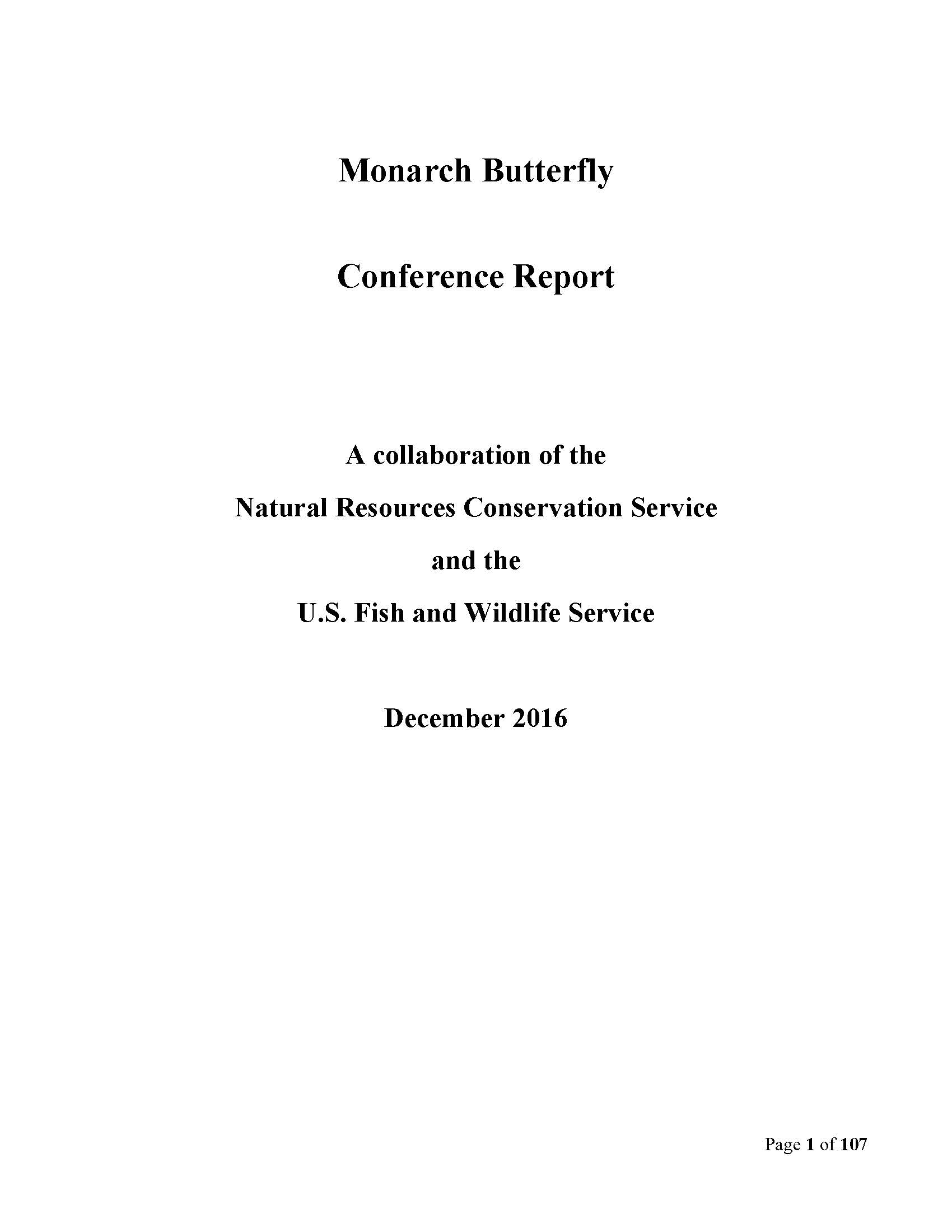 Nrcs usfws partner to accelerate conservation on agricultural monarch conference report image sciox Image collections