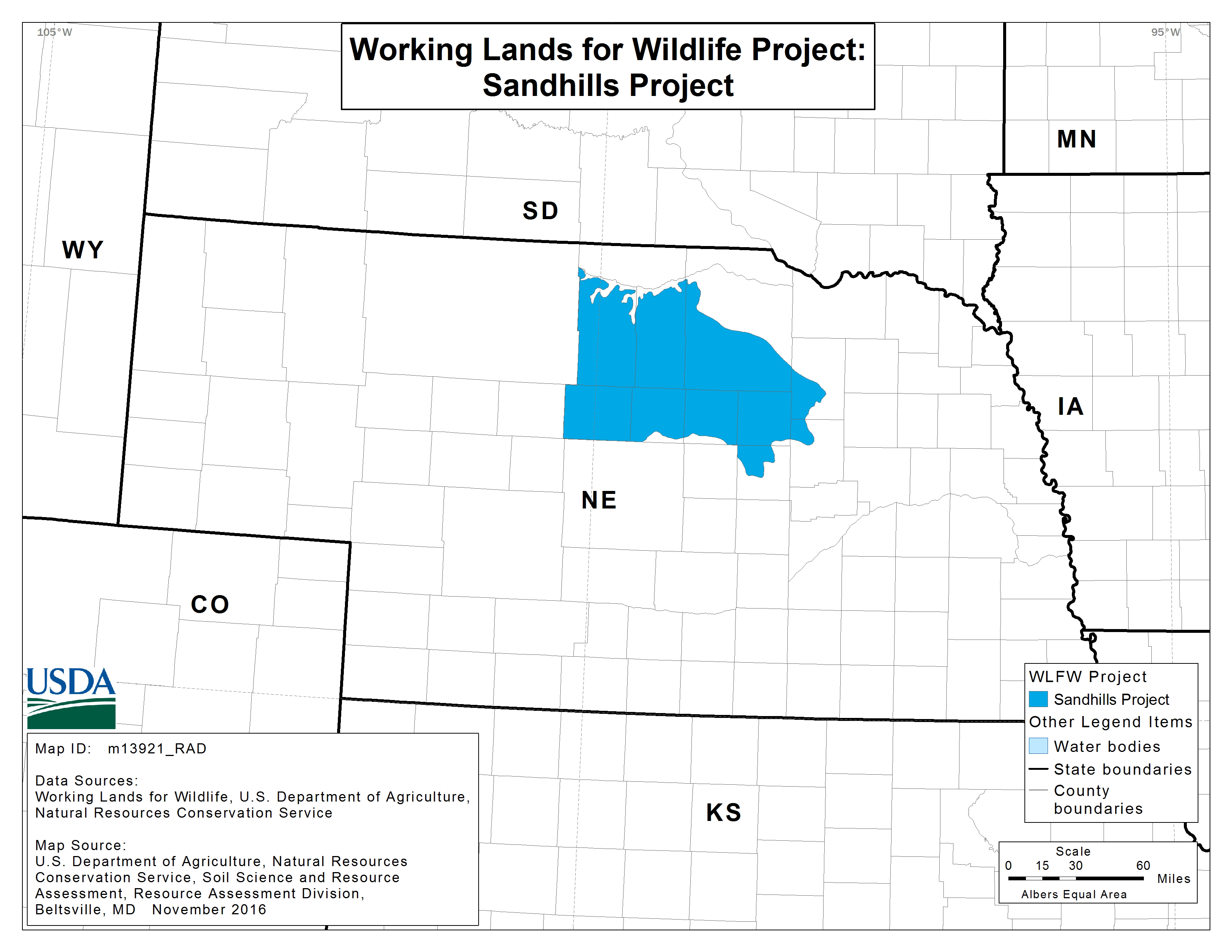 Sandhills project WLFW map
