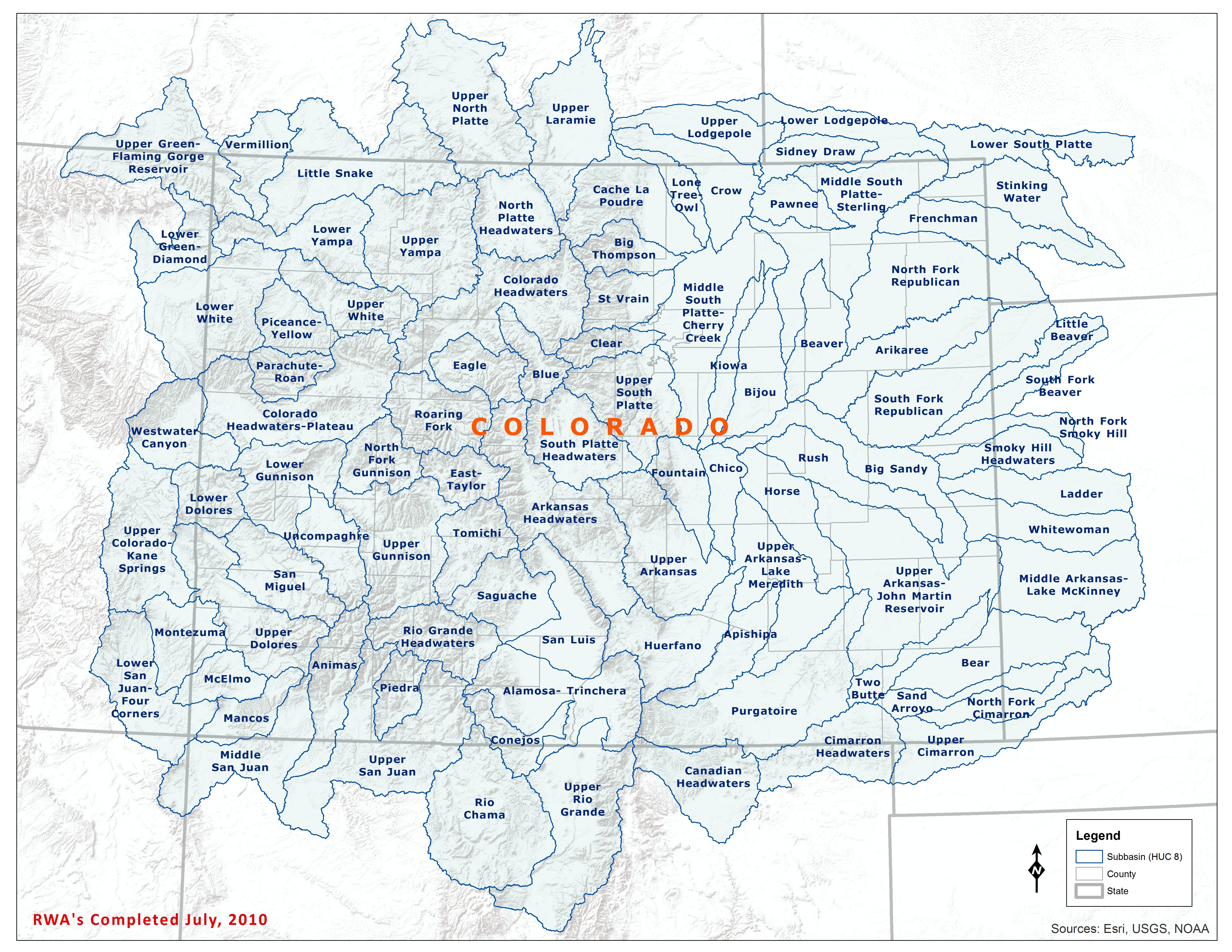 Colorado Subbasin Map - Click to Enlarge