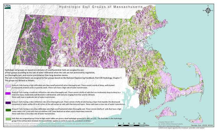 Soils NRCS Massachusetts - Massachusetts physical map