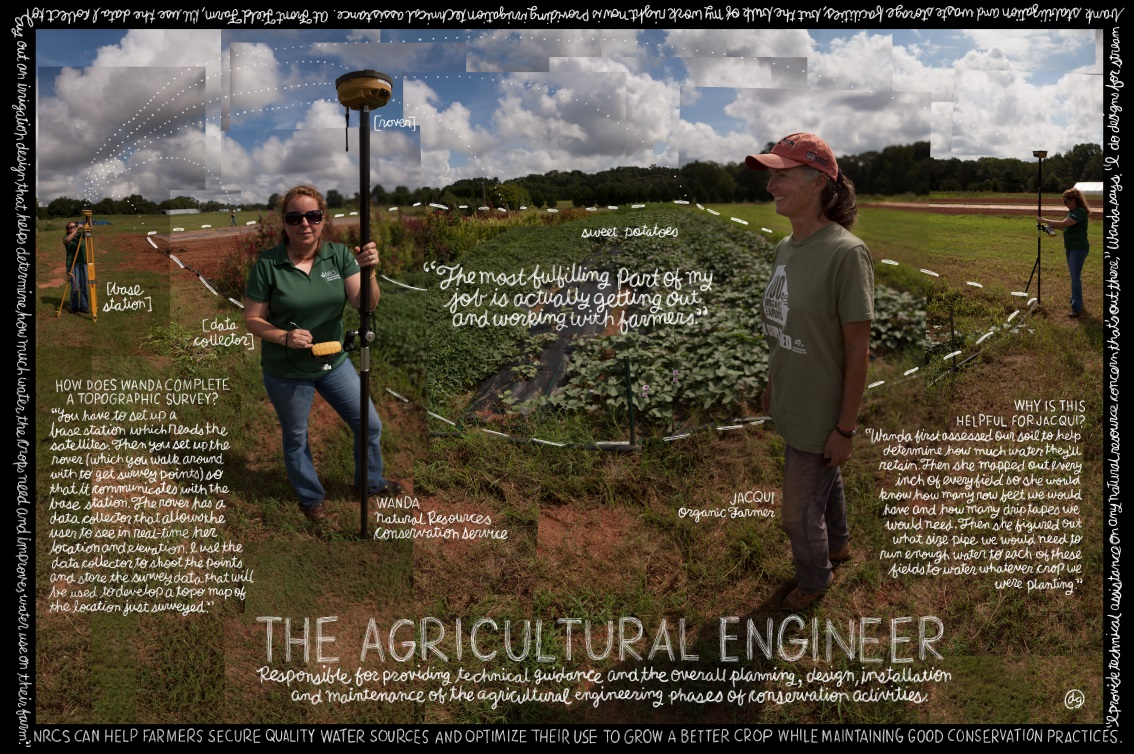NRCS Agricultural Engineer Poster Image