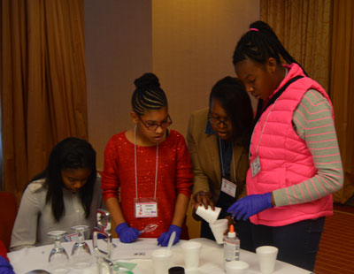 Connecting Kids Inside Out hosted a STEM Enrichment Institute at a local urban middle school