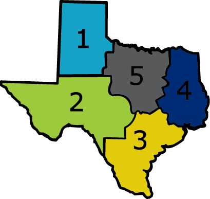 NRCS Texas Zone map