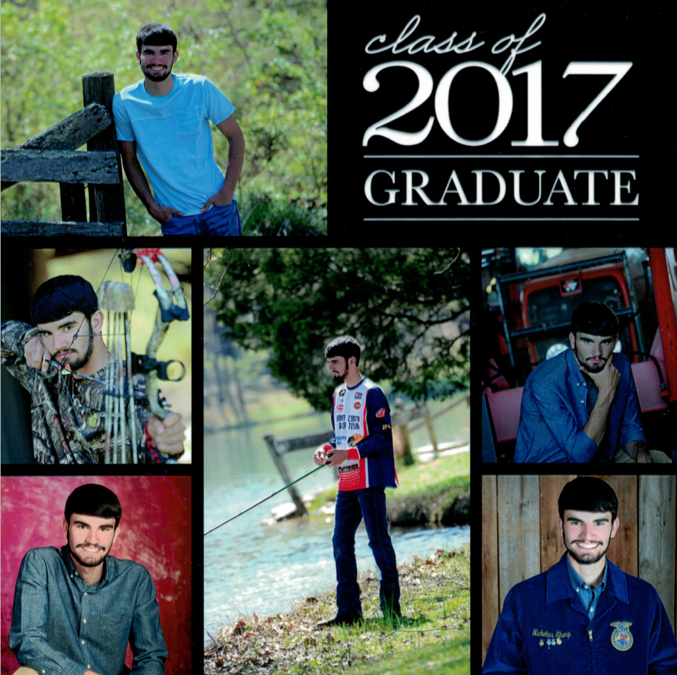 Class of 2017 graduate Nicholas Sharps is passionate about agriculture and natural resources. NRCS photo.