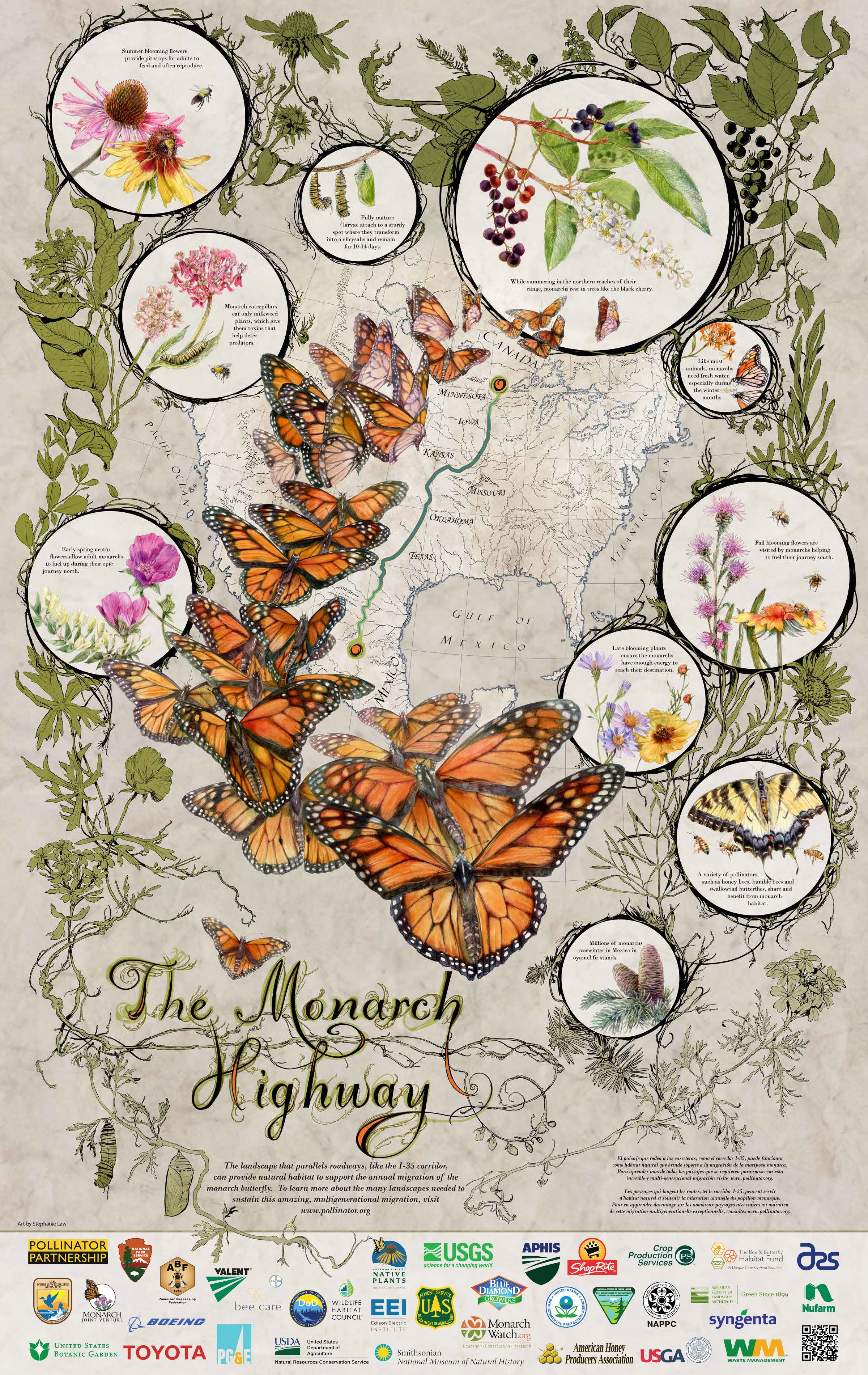 The Monarch Highway - 2017 pollinator poster