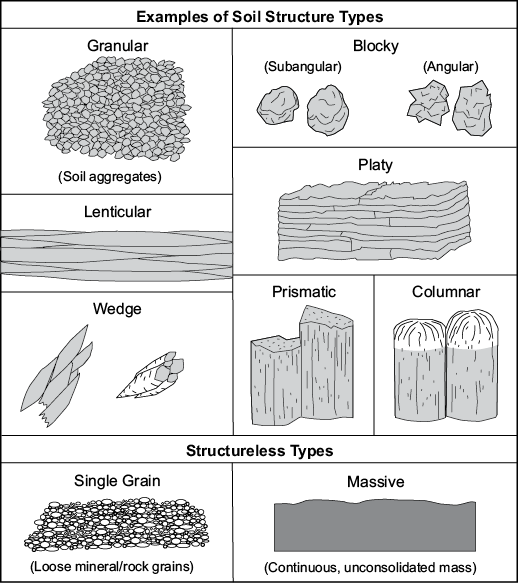 Figure 3-16. Examples of soil structure types.
