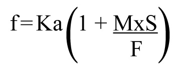 Equation describing infiltration.