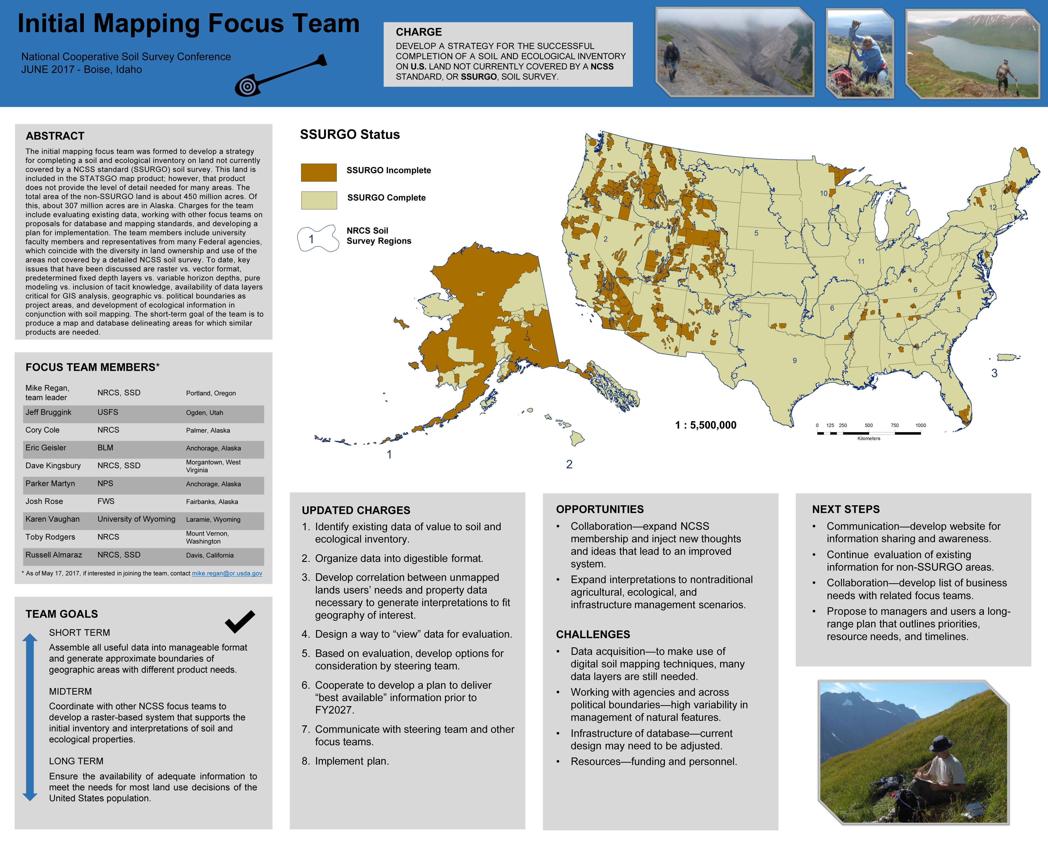Initial Mapping Team poster presented at the 2017 National NCSS Conference.