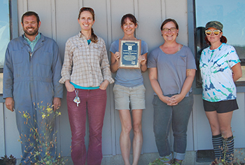 Corvallis Plant Materials Center staff receive the Notable Achievement Award