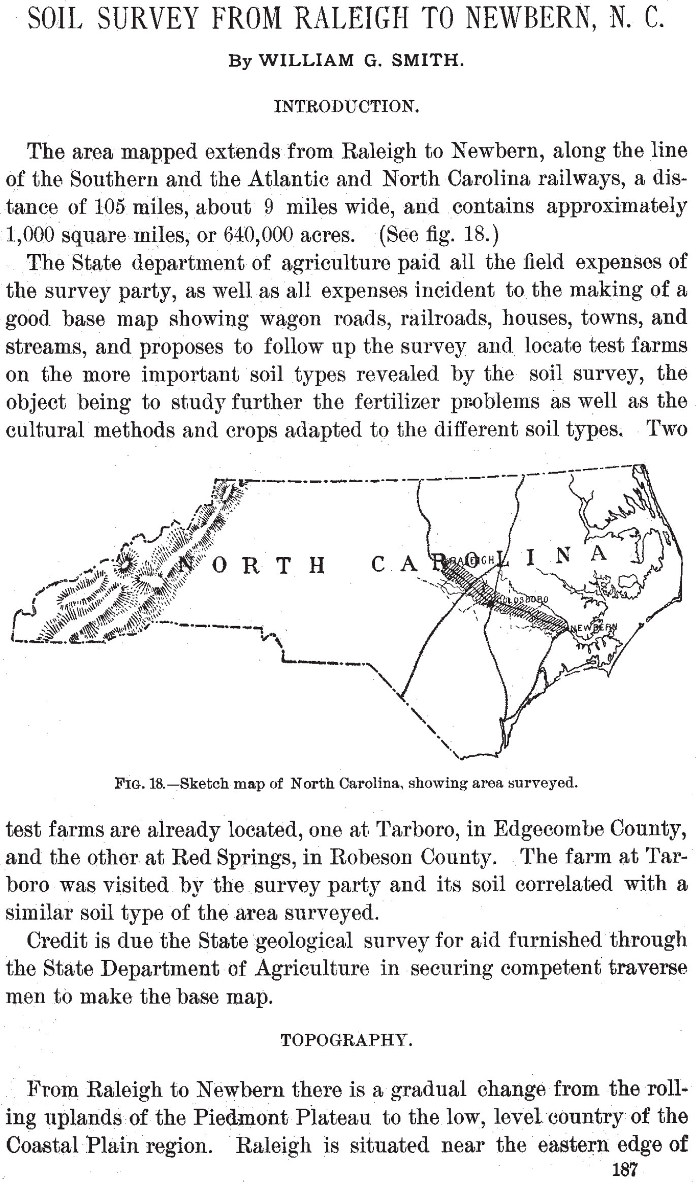 Soil Survey from Raleigh to Newbern NC