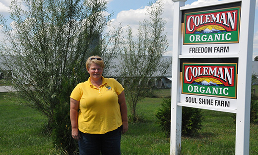 Poultry grower Georgie Cartanza sees value in conservation planning for her organic poultry operation.