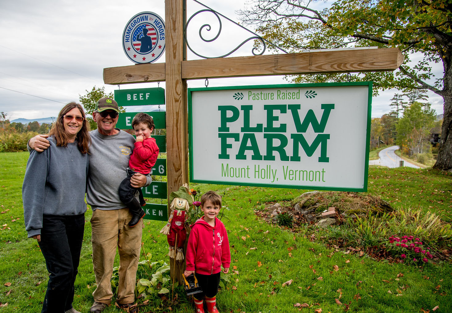 The Plew Family of Mount Holly Vermont