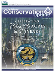 November 2017 Louisiana Conservation Update Cover