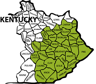 map of kentucky 2018 rcpp showing seek eligible counties