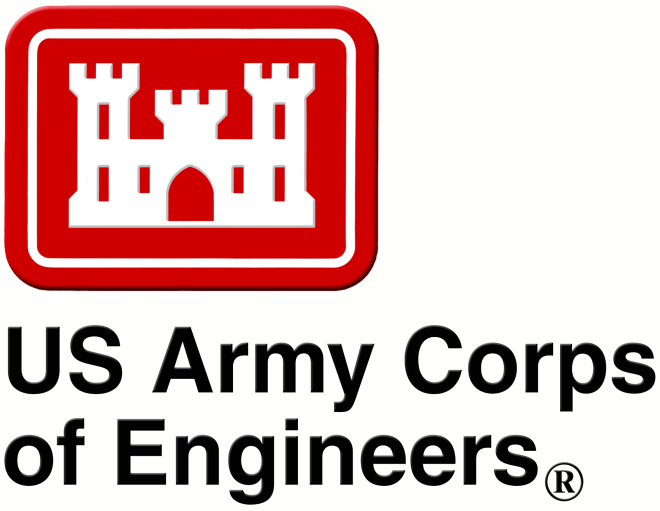 Red Logo of the US Corps of Engineers