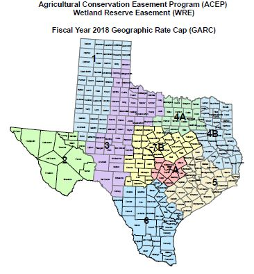 Fiscal Year 2018 Geographic Rate Cap map