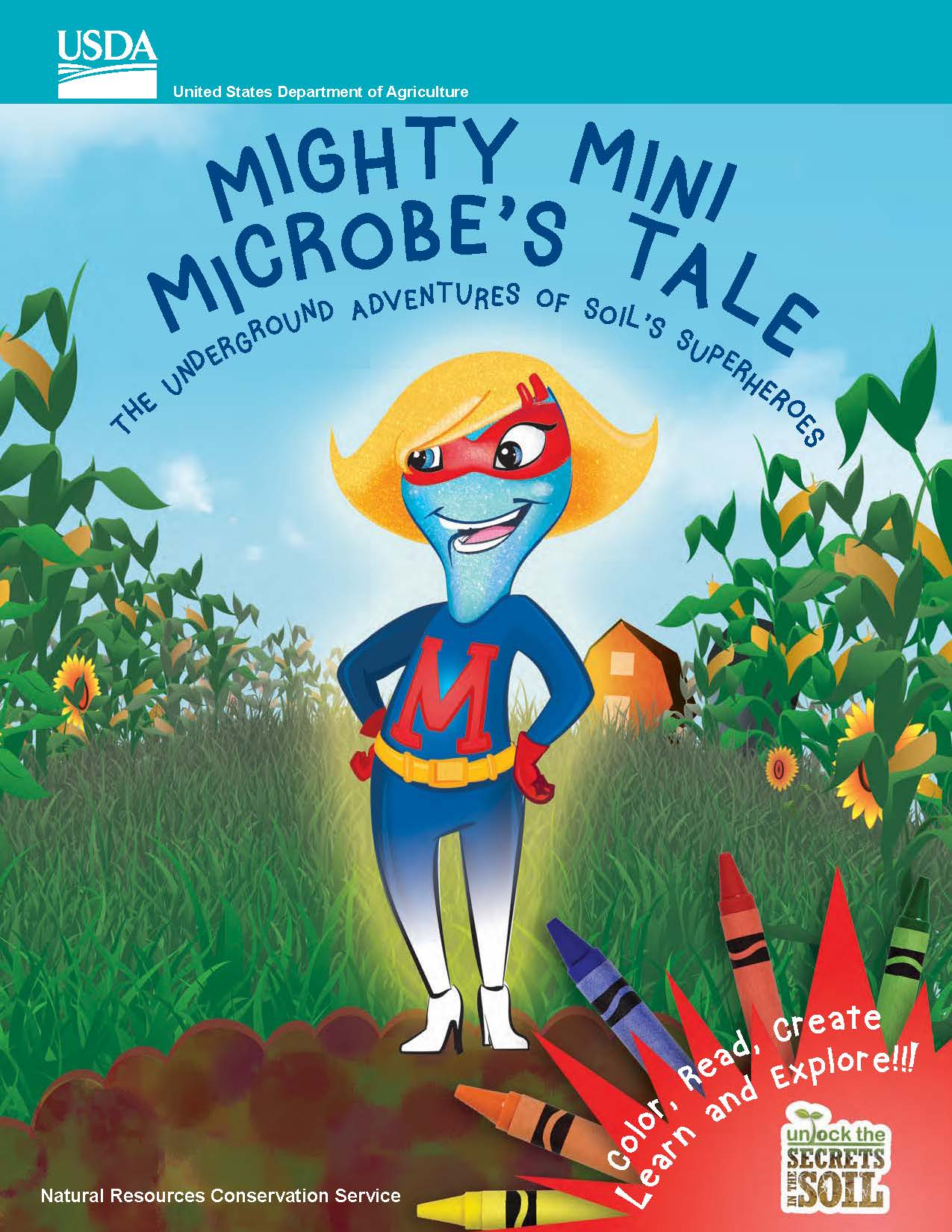 Mighty Minnie Microbe Coloring Book