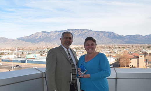 Photo of Molly Murphy, Archeologist, and Xavier Montoya, State Conservationist, NM State Office.