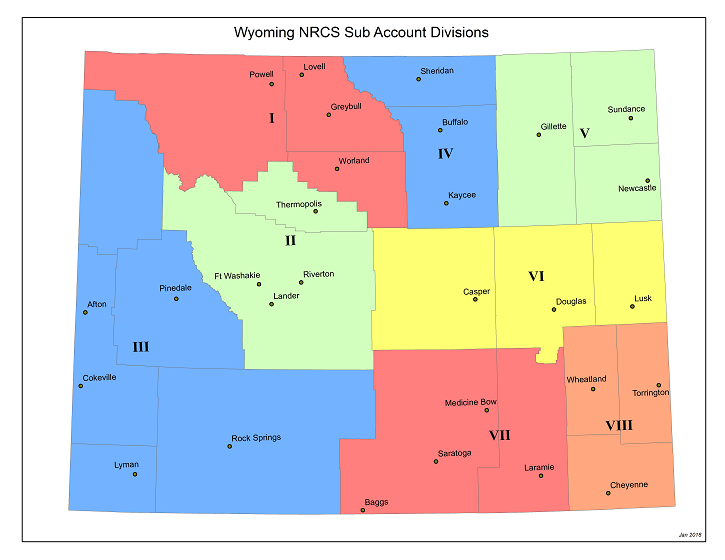 Wyoming Subaccount Map